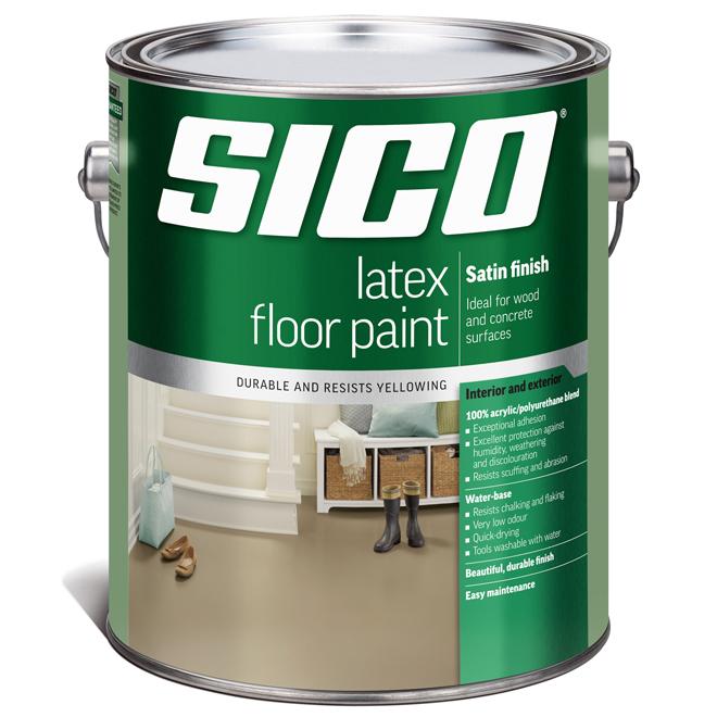 Sico - Floor Paint Base - Latex/Acrylic - Satin Finish - 3.5 L - Base 3