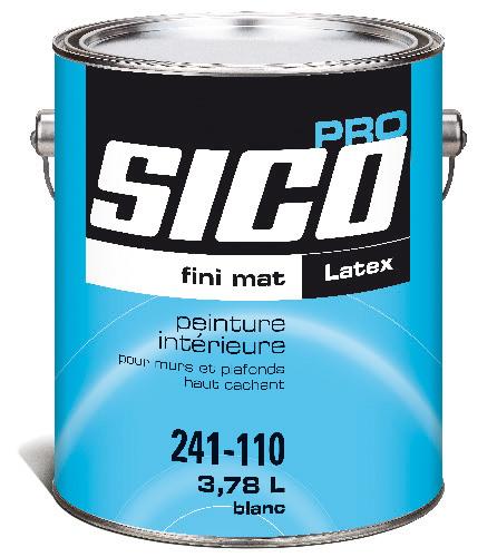 Peinture intérieure pour murs et plafond, Sico, latex, 3,78 l, blanc mat