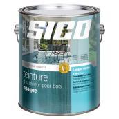 Teinture d'extérieur opaque pour bois, base blanche, 3.7 l.