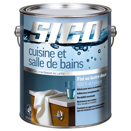 Base de peinture pour cuisine/salle de bain, Sico, lustre doux, 3,78 l, base 1