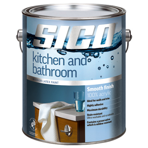 Sico - Paint Base For Kitchen/Bathroom - Smooth - 3.78 L - Base 1