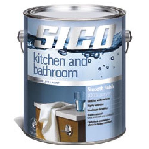 Sico Acrylic Latex Paint - Kitchen and Bathroom 163-502-3.6L
