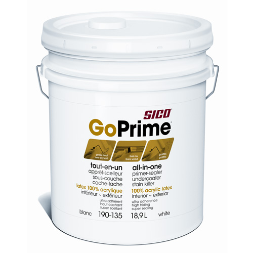 Sico GoPrime Primer-Sealer and Undercoater - 18.9 L - Stained