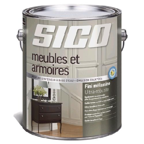 Peinture D Interieur Pour Meubles Et Armoires Sico 3 78 L Fini Melamine Blanc Rona