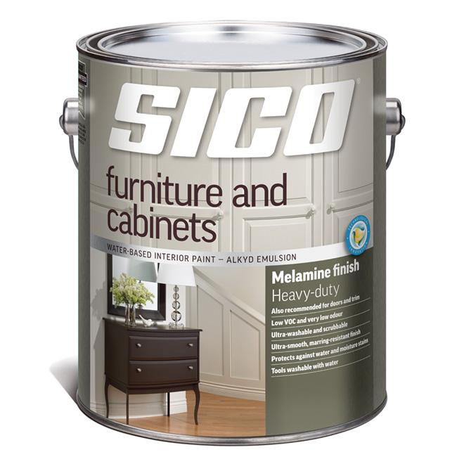 Sico Interior Paint - Furniture and Cabinets - 3.78 L - Melamine Finish - White