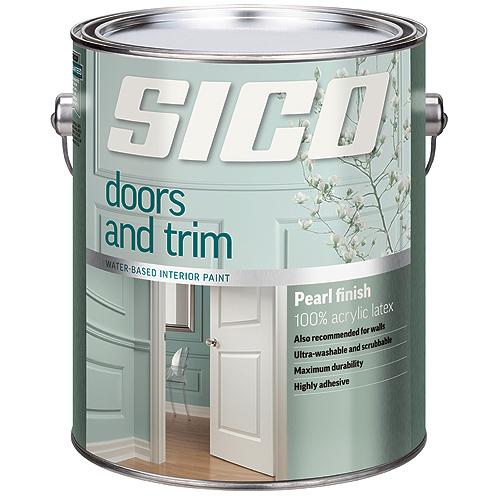 Interior Paint - Doors and Trim - Latex - 927 ml - Pearl Finish - White
