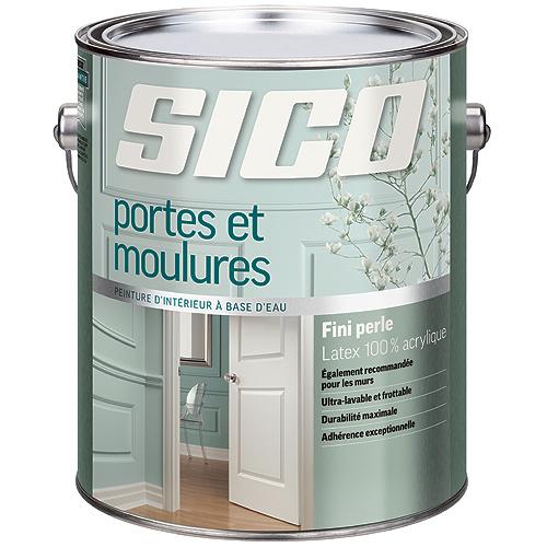 Peinture latex d'intérieur pour portes/moulures, Sico, latex, 3,78 l, blanc pur