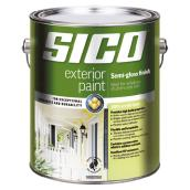 Sico Exterior Latex Paint - 3.78 L - Semi-Gloss - Pure White