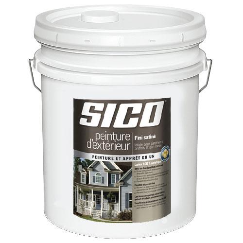 Peinture et apprêt d'extérieur pour bois Sico, satiné, base neutre, opaque, 18,9 L