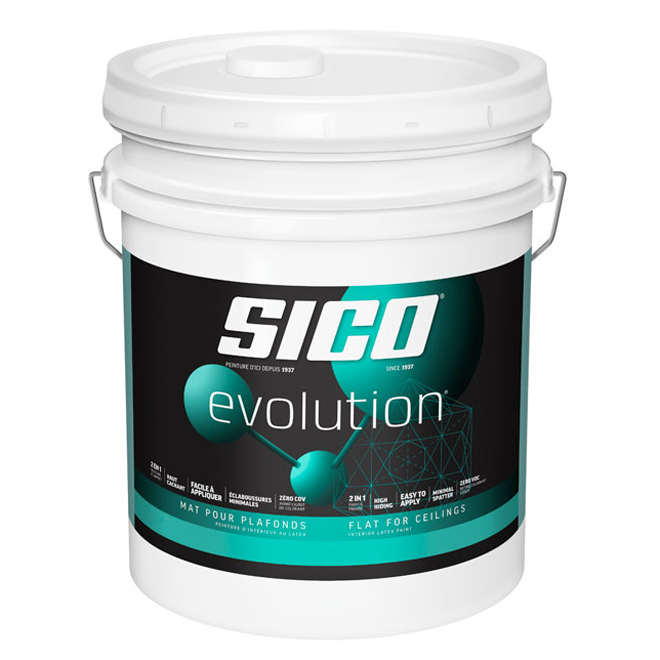 Sico Evolution 2-in-1 Paint and Primer - Flat for Ceilings - 18.9 L - White