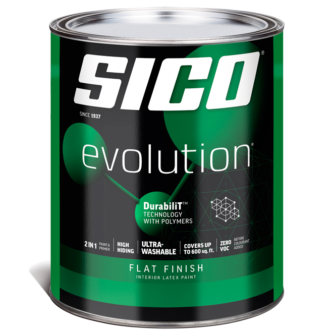 Sico Evolution Paint Base and Primer in One - Latex - Base 3 - 946 ml - Flat