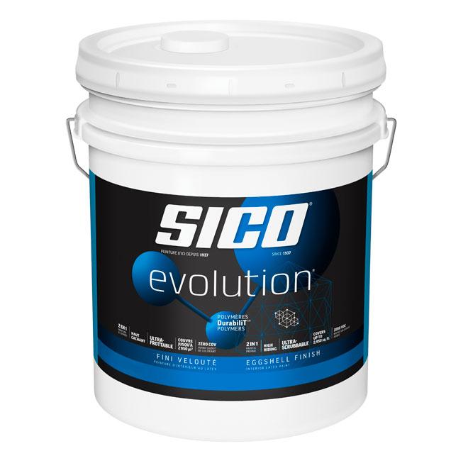 Peinture et apprêt d'intérieur SICO Evolution, fini velouté, 18,9 L, blanc pur