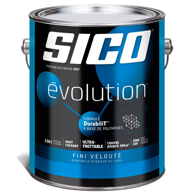 Peinture et apprêt d'intérieur SICO Evolution, fini velouté, 3,78 L, base 3