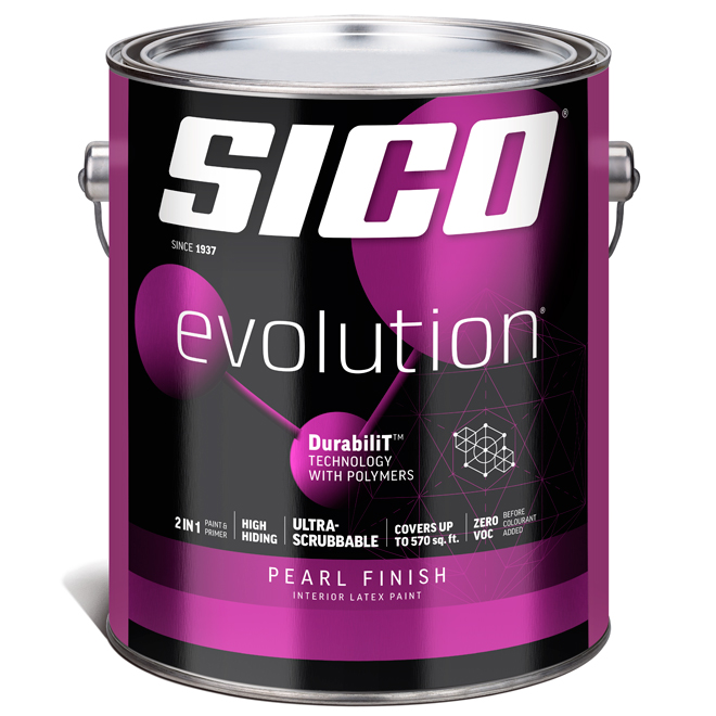 Sico Evolution Paint and Primer - Base 1 - 3.78 L - Pearl