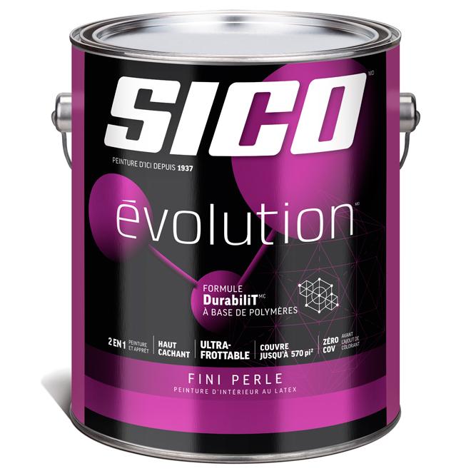 Peinture et apprêt d'intérieur Sico Evolution, base 4, 3,78 l, perle