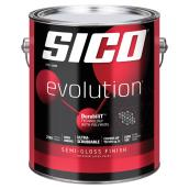 Sico Evolution Paint and Primer - 3.78 L - Pure White - Semi-Gloss
