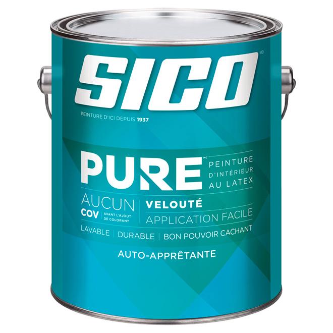 Base de peinture auto-apprêtante Sico Pure, base moyenne, 3,78 l, velouté