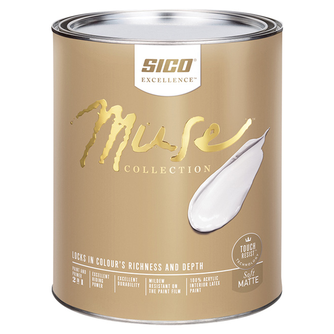 Sico Muse Paint Base and Primer - Base 4  - 946 ml - Soft Matte