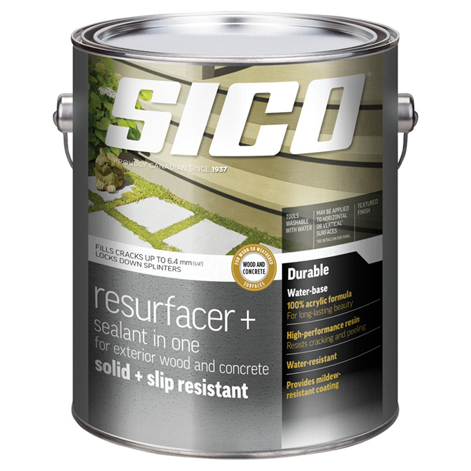 Resurfacer/Sealant for Exterior Wood and Concrete - 3.37 L