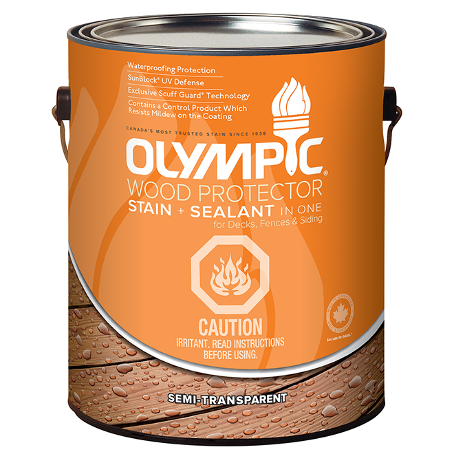 Olympic Semi-Transparent Wood Stain - 3.78 L - Cedar