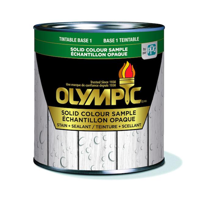 Teinture et scellant d'extérieur pour bois Olympic Summit, opaque, base 1, 236 ml