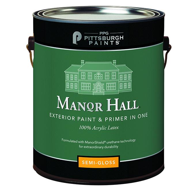 Exterior Latex Paint/Primer -Pastel Base -Semi-Gloss - 3.78L