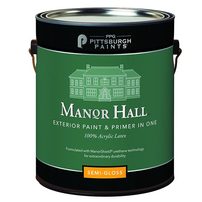 Peinture/apprêt, latex, base ton moyen, semi-lustré, 3,78 l