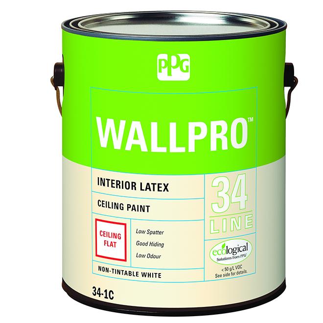 Wallpro Peinture Au Latex Pour Plafond Intérieur 378 L Blanc Mat