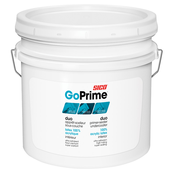 Sico GoPrime Primer/Sealer and Undercoat - 7.57 L - White