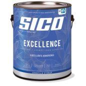 Peinture et apprêt d'intérieur SICO Excellence 100 % acrylique coquille d'oeuf, 3,78 l, blanc