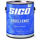 Peinture et apprêt d'intérieur SICO Excellence 100 % acrylique coquille d'oeuf, 3,78 l, base neutre