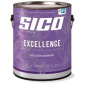 Peinture et apprêt d'intérieur SICO Excellence 100 % acrylique perle, 3,78 l, blanc