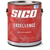 Peinture et apprêt d'intérieur SICO Excellence 100 % acrylique semi-lustré, 3,78 l, blanc
