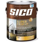 Peinture et apprêt d'extérieur SICO Super Premium 100 % acrylique, fini mat, 3,78 l, base 2