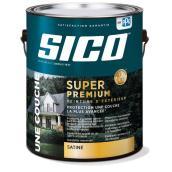 Peinture et apprêt d'extérieur SICO Super Premium 100 % acrylique, fini perlé, 3,78 l, base 2