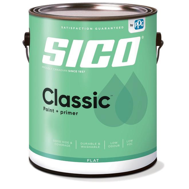 SICO Classic Interior Paint and Primer - Latex - Matte Finish - 3.78-L - Medium Base