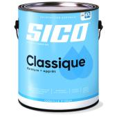 Peinture et apprêt d'intérieur SICO Classique en latex, fini coquille d'oeuf, 3,78 l, blanc