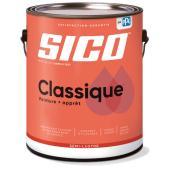 Peinture et apprêt d'intérieur SICO Classique en latex, fini semi-lustré, 3,78 l, base neutre