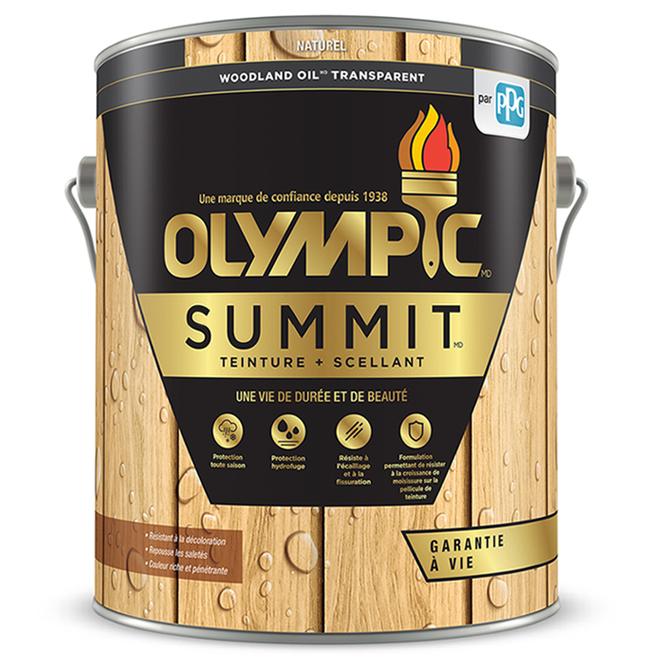 Teinture + scellant Olympic Summit Woodland Oil, transparent, naturel, 3,78 L