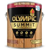 Olympic Summit Semi-Transparent Exterior Stain and Sealant - Kona Brown - 3.78-L
