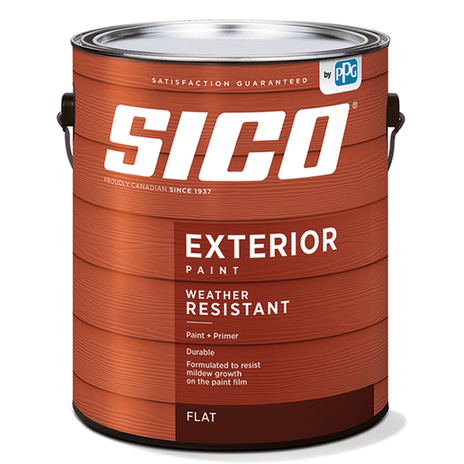 SICO Exterior Paint and Primer - Latex - Flat Finish - 3.78-L - Neutral Base