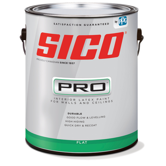 SICO PRO Interior Paint - Latex - Matte Finish - 18.9-L - Ebony Black