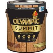 Olympic Summit Exterior Wood Stain - Semi-Transparent - 3.78-L - Mahogany