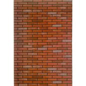 "Prefinished Panel - Brick - 48"" x 96"" - Red"