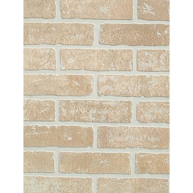 Panneau préfini, modèle brique, 4' x 8', beige