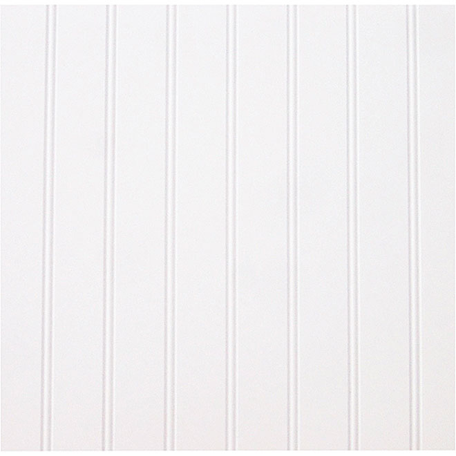 Grooved Prefinished Panel - 4' x 8' - MDF - White