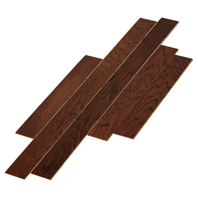 Engineered Wood Flooring - Click - 1/2'' x 3 1/2'' - Walnut