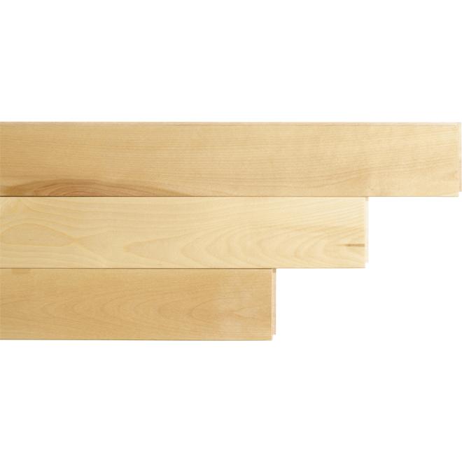 "Birch Hardwood Flooring - 3-1/4"" x 3/4"" - Natural"