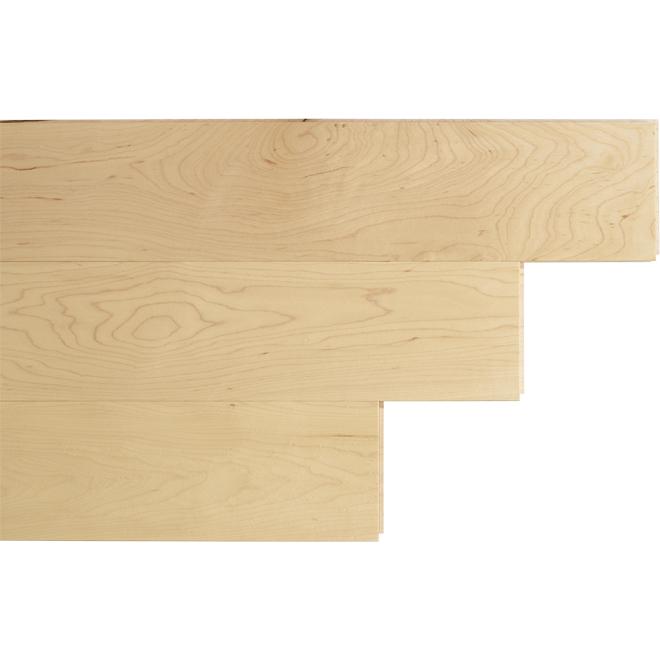 "Maple Hardwood Flooring - 4-1/4"" x 3/4"" - Natural"
