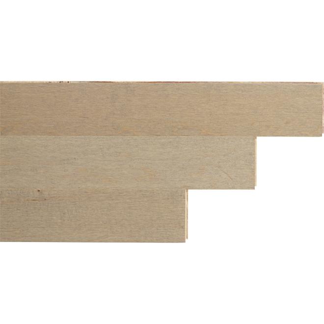 """Plancher de bois en érable, 1-2/3"""" x 1/4"""", illusion"""
